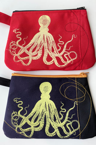 Cynthia DM waterproof pouches-Red Octopus and Black Octopus