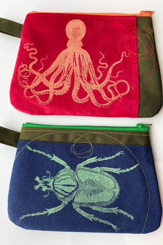 Cynthia DM waterproof pouches-Octopus and Beetle
