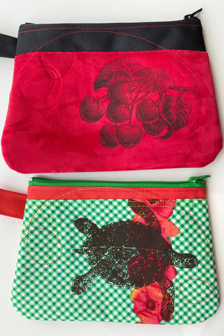 Cynthia DM waterproof pouches-Cherries and Sea Turtle