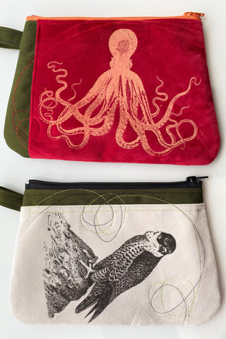 Cynthia DM waterproof pouches-Octopus and Falcon