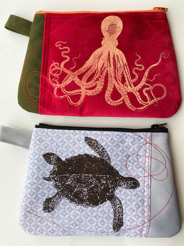 Cynthia DM waterproof pouches-Octopus and Turtle