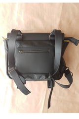Rosendale Black Recycled Leather Shoulder Bag
