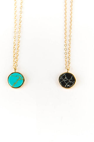 Epoxy Circle 14kt Gold Necklace