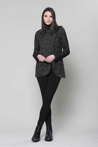 RUELLE Echo Jacket in Black Beige Heather