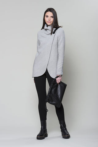 RUELLE Echo Jacket in Diagonal Grey