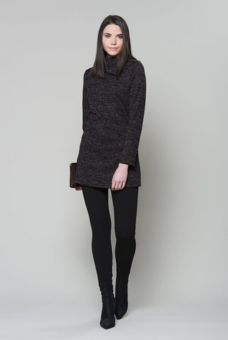 RUELLE Triangle Tunic in Black Berry Heather FW2020/2021