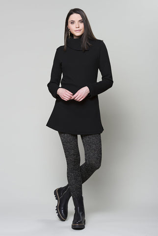 RUELLE Triangle Tunic in Black Textured FW2020/2021