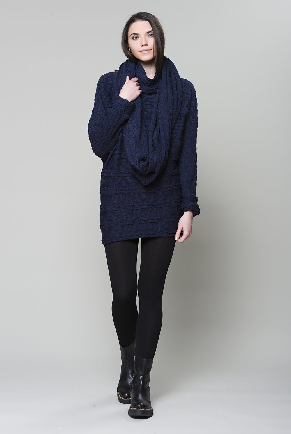 Legend Tunic By Ruelle, FW 20/21 Cable Navy. XS to XL