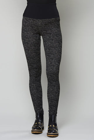 Code pants by RUELLE in black beige heather
