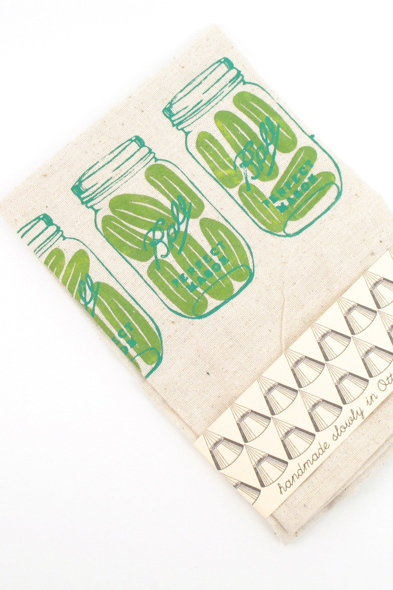 pickle tea towel