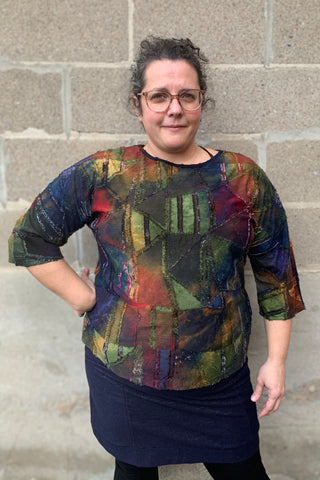 Stained Glass Boatneck Tunic