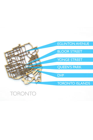 "The National Design Collective Toronto ""I Kinda Like it Here"" Wood Coaster. Made in Canada"