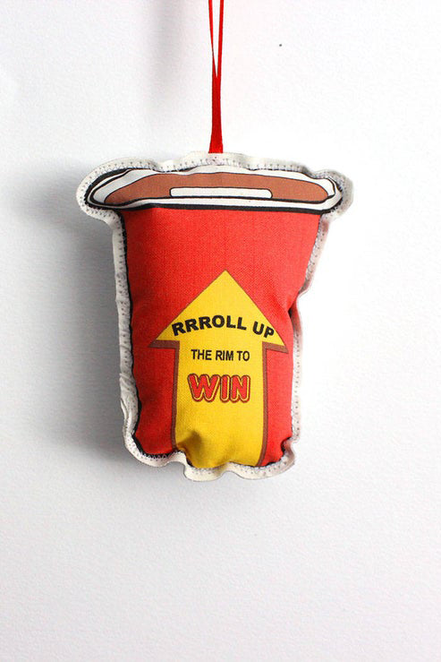 """Roll up the Rim"" Holiday Ornament"
