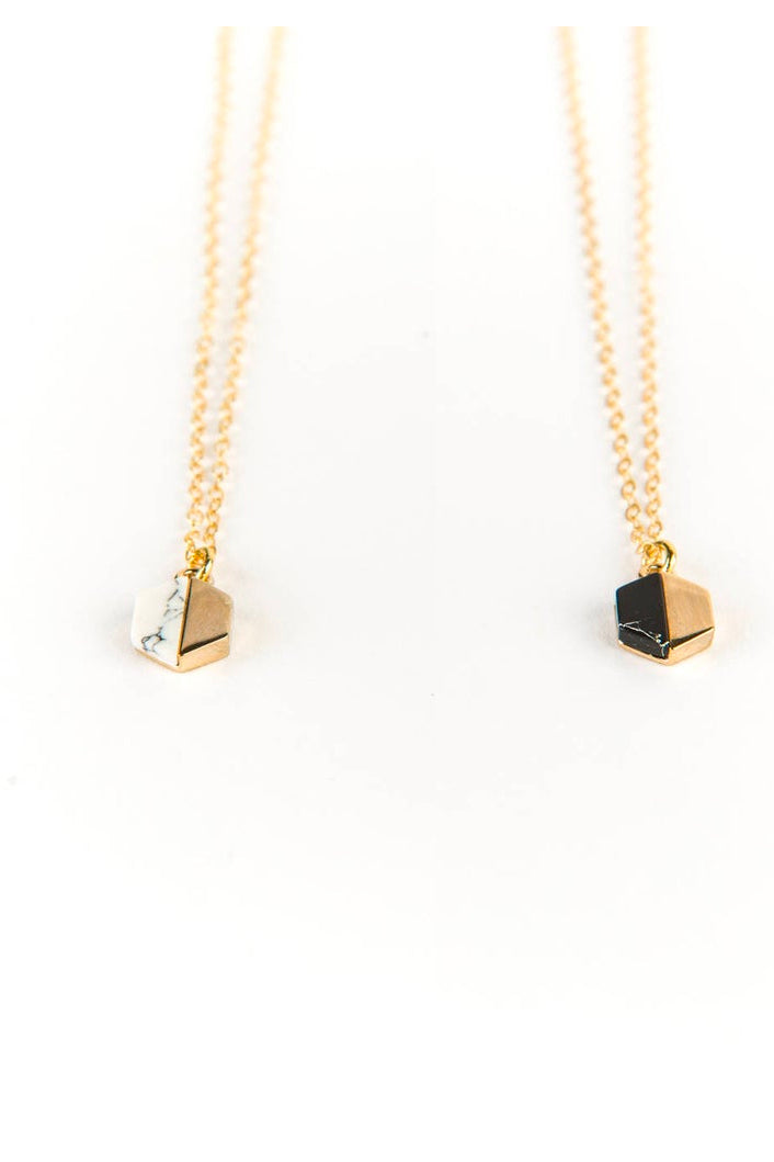 Tiny Hexagon Necklace