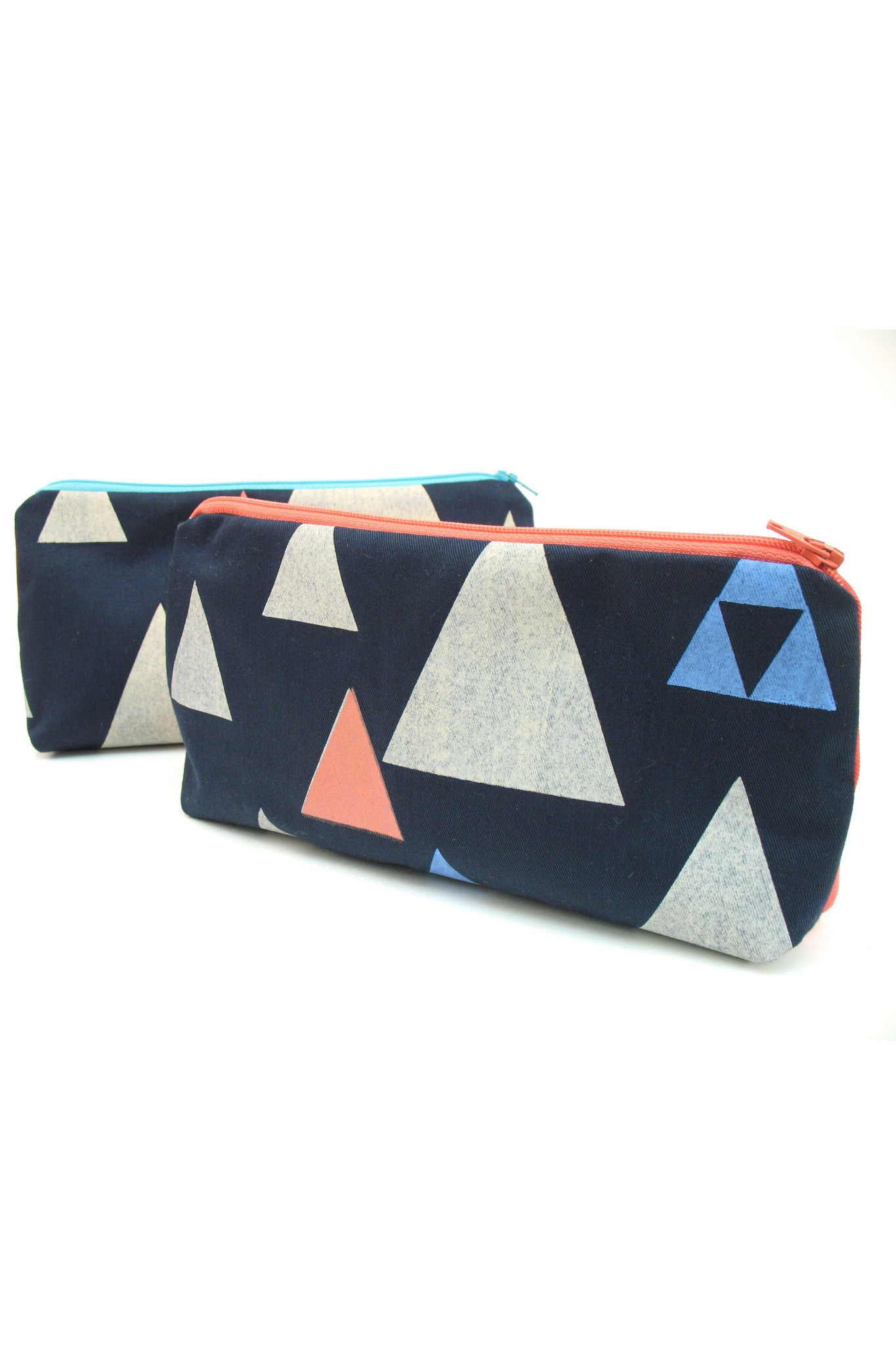 Navy Triangles Everything Pouch