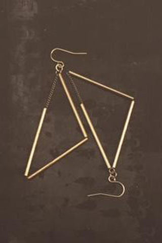 Trimetal Cubes Earrings