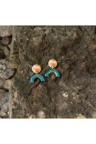 "Ceramic Pendant ""U"" Earrings"