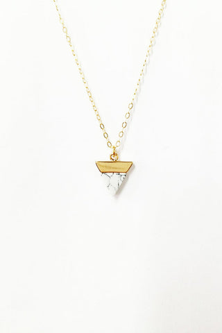 Marbled Triangle Necklace
