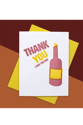 Wine Thanks Inkwell Originals Card