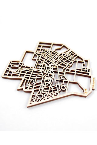 "The National Design Collective Winnipeg  ""I Kinda Like it Here"" Wood Coaster. Made in Canada"