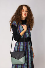 Woodstock  Recycled Leather Shoulder Bag with Lichen Leather