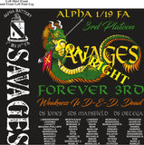 Platoon Shirts (2nd generation print) ALPHA 1st 19th SAVAGES AUG 2020