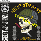 Platoon Shirts (2nd generation print) ALPHA 1st 31st NIGHT STALKERS APR 2020
