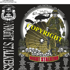 Platoon Shirts (2nd generation print) ALPHA 1st 31st NIGHT STALKERS NOV 2020