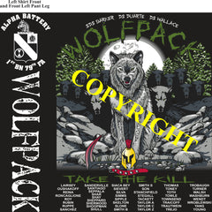 Platoon Shirts (2nd generation print) ALPHA 1st 79th WOLFPACK AUG 2020