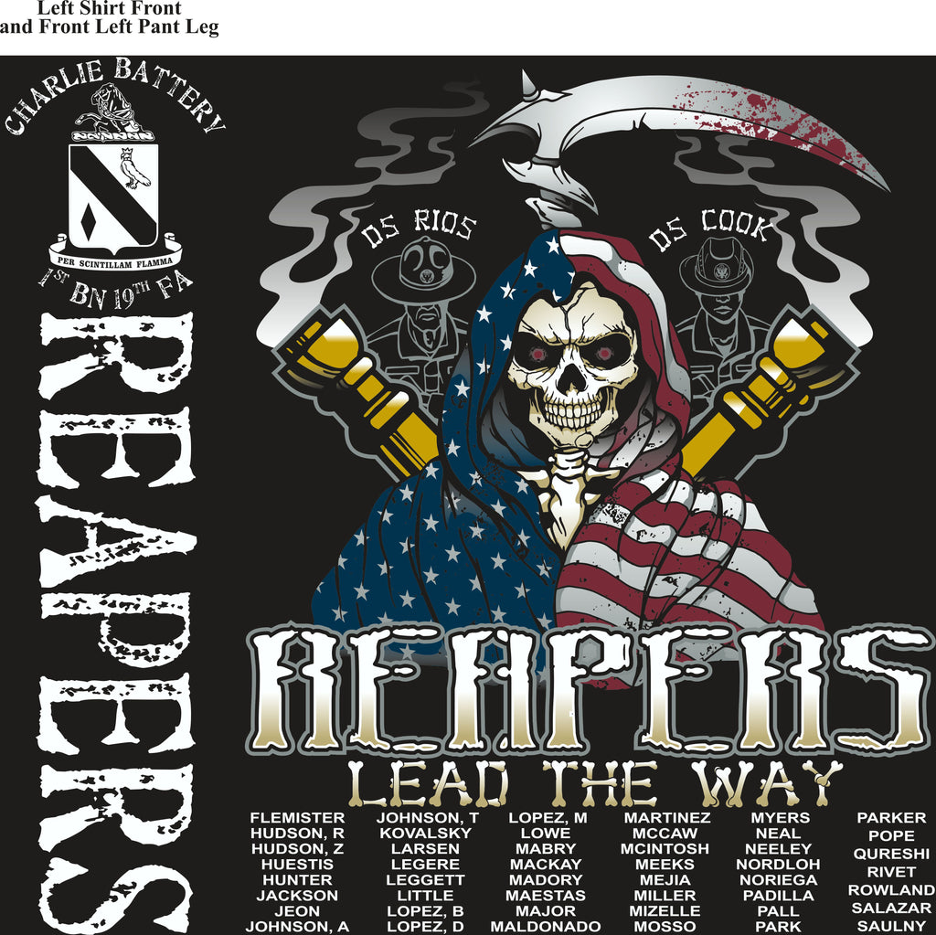 Platoon Shirts (2nd generation print) CHARLIE 1ST 19TH REAPERS APR 2018