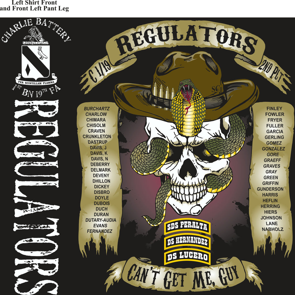 Platoon Shirts (2nd generation print) CHARLIE 1ST 19TH REGULATORS APR 2018