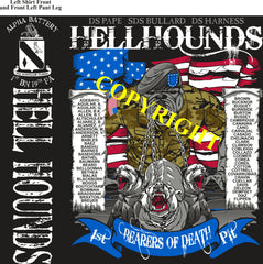 Platoon Shirts (2nd generation print) ALPHA 1st 19th HELL HOUNDS OCT 2019