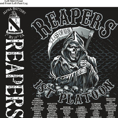 Platoon Shirts (2nd generation print) ALPHA 1ST 19TH REAPERS DEC 2017