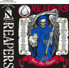 PLATOON SHIRTS (2nd generation print) ALPHA 1st 19th REAPERS MAR 2017