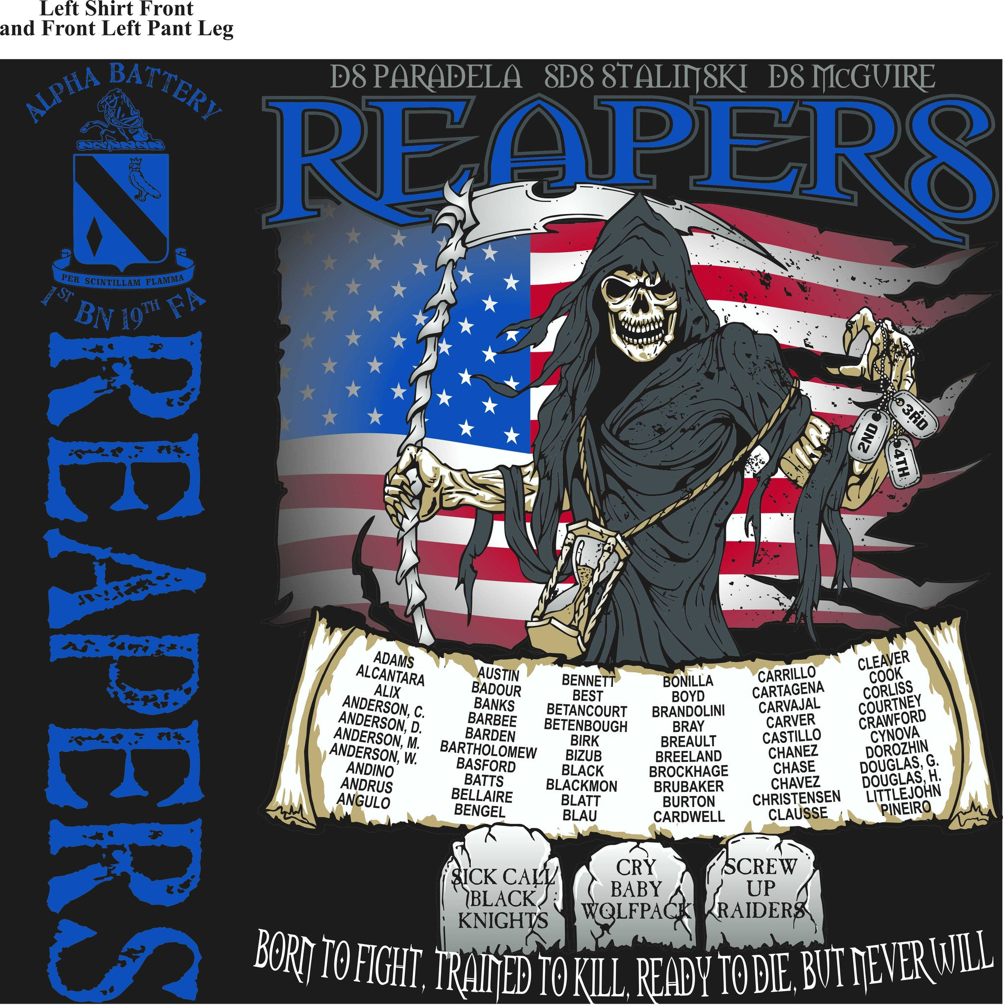 Platoon Shirts (digital) ALPHA 1st 19th REAPERS SEPT 2015