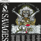 Platoon Shirts (2nd generation print) ALPHA 1ST 19TH SAVAGES DEC 2017