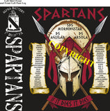 Platoon Shirts (2nd generation print) ALPHA 1st 19th SPARTANS APR 2019