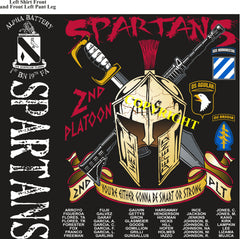 Platoon Shirts (2nd generation print) ALPHA 1st 19th SPARTANS JAN 2019