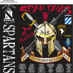 Platoon Shirts ALPHA 1st 19th SPARTANS JAN 2019