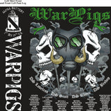 PLATOON SHIRTS (2nd generation print) ALPHA 1st 19th WAR PIGS JUNE 2017