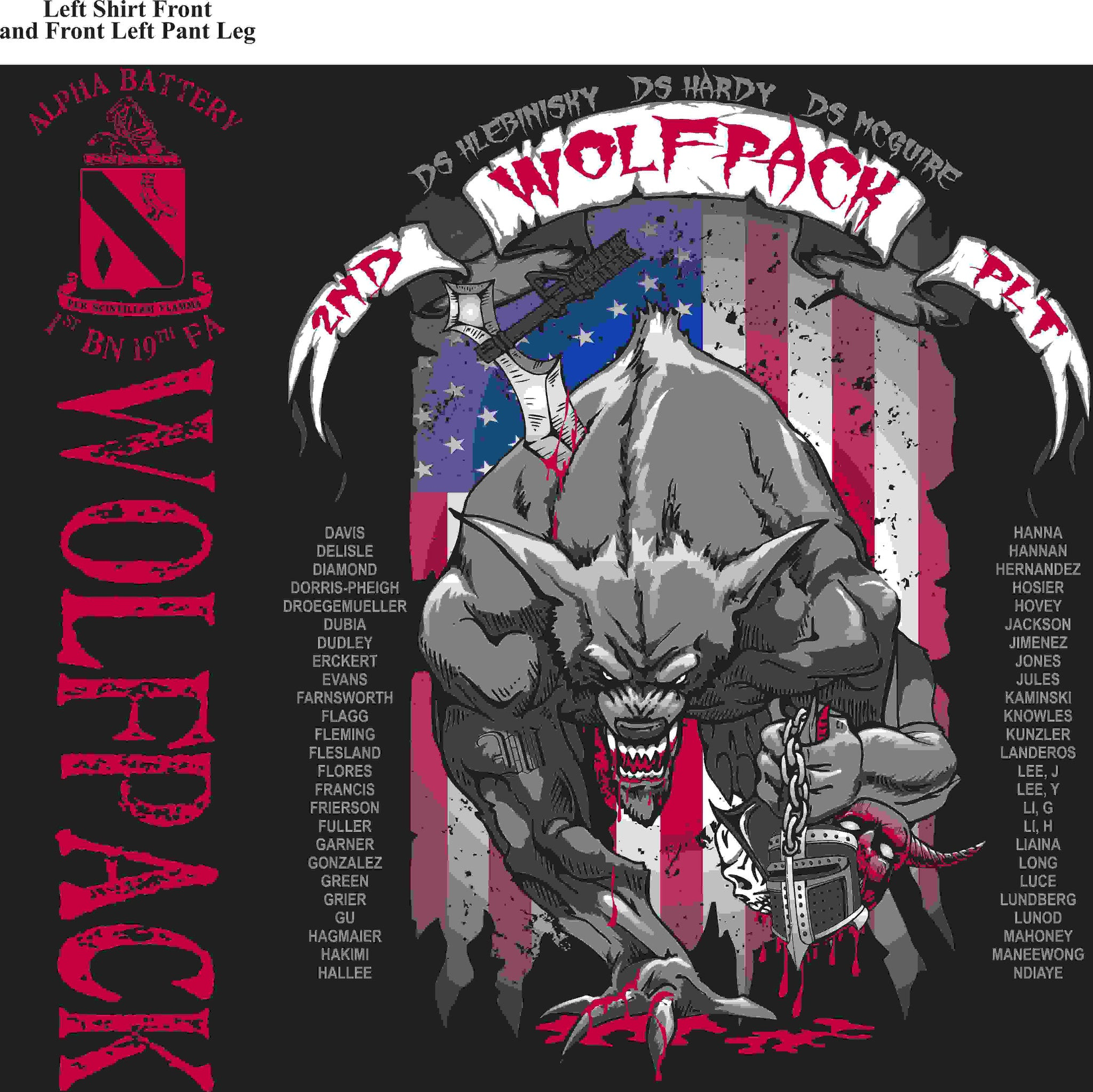 PLATOON SHIRTS (2nd generation print) ALPHA 1st 19th WOLFPACK MAR 2016
