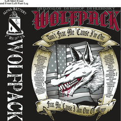 PLATOON SHIRTS (2nd generation print) ALPHA 1st 19th WOLFPACK MAR 2017