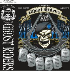 PLATOON SHIRTS (2nd generation print) ALPHA 1st 31st GHOST RIDERS FEB 2017