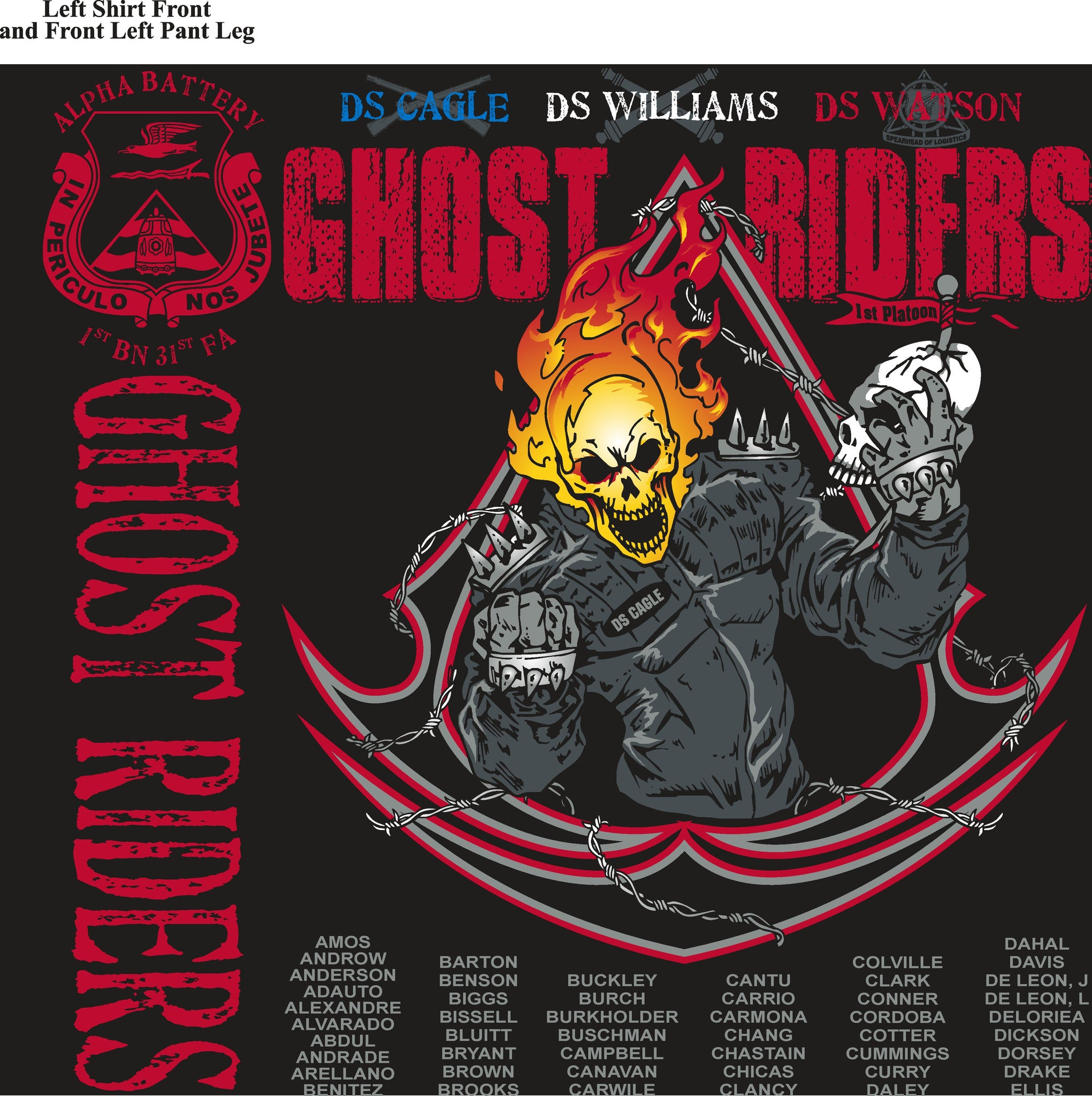 Platoon Shirts (digital) ALPHA 1st 31st GHOST RIDERS MAY 2015