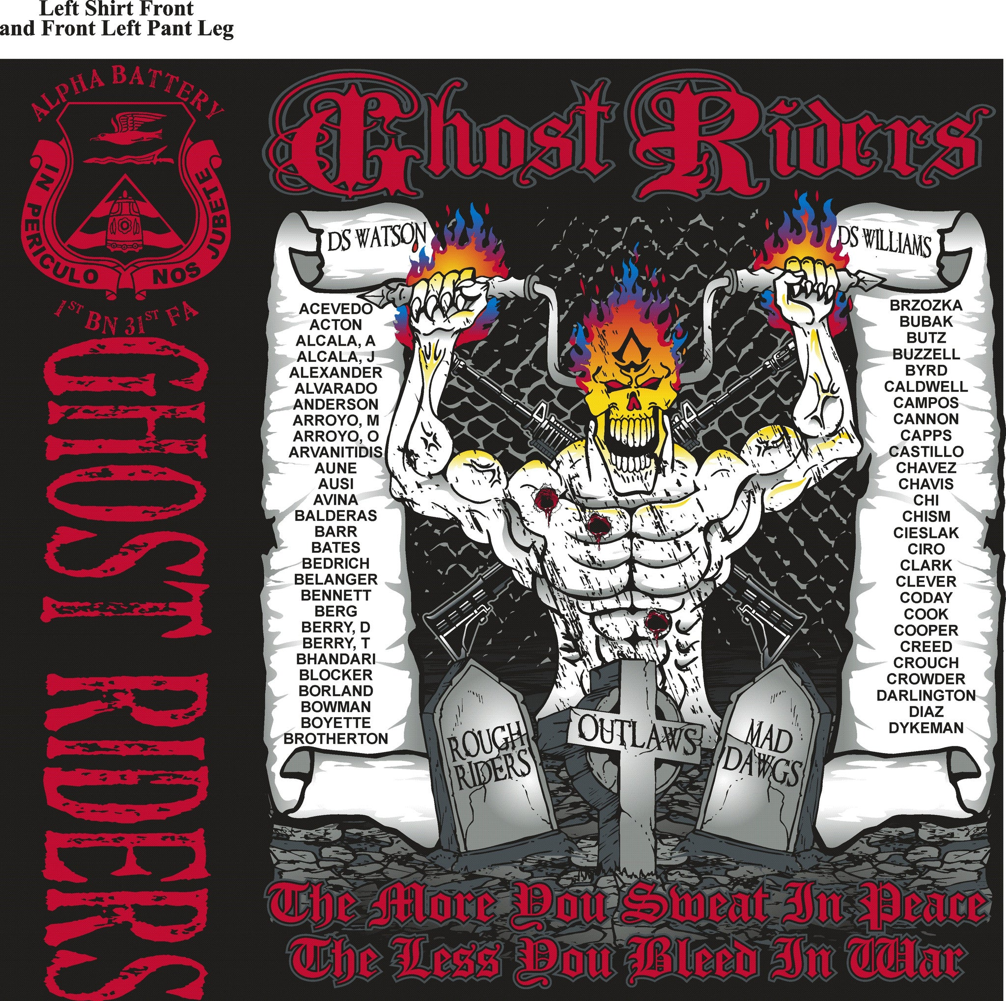 Platoon Shirts ALPHA (digital) 1st 31st GHOST RIDERS OCT 2015