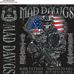 PLATOON SHIRTS (2nd generation print) ALPHA 1st 31st MADDAWGS AUG 2016