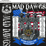 Platoon Shirts (2nd generation print) ALPHA 1st 31st MAD DAWGS JUNE 2018
