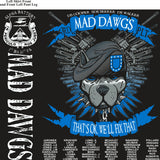Platoon Shirts (2nd generation print) ALPHA 1ST 31ST MAD DAWGS NOV 2017