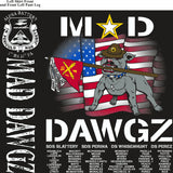 Platoon Shirts (2nd generation print) ALPHA 1st 31st MAD DAWGZ SEPT 2018