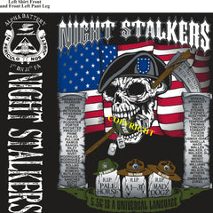 Platoon Shirts (2nd generation print) ALPHA 1st 31st NIGHT STALKERS DEC 2018